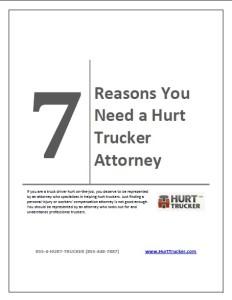 7 Reasons Professional Truckers Need a Hurt Trucker Attorney